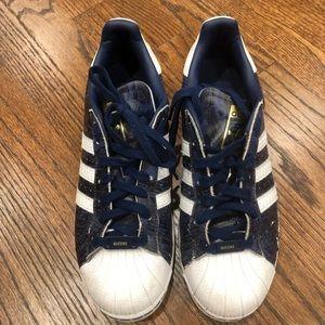 Adidas New York Queens Rare Style Sz 11 Blue White